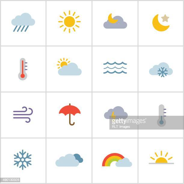 weather icons — poly series - weather stock illustrations