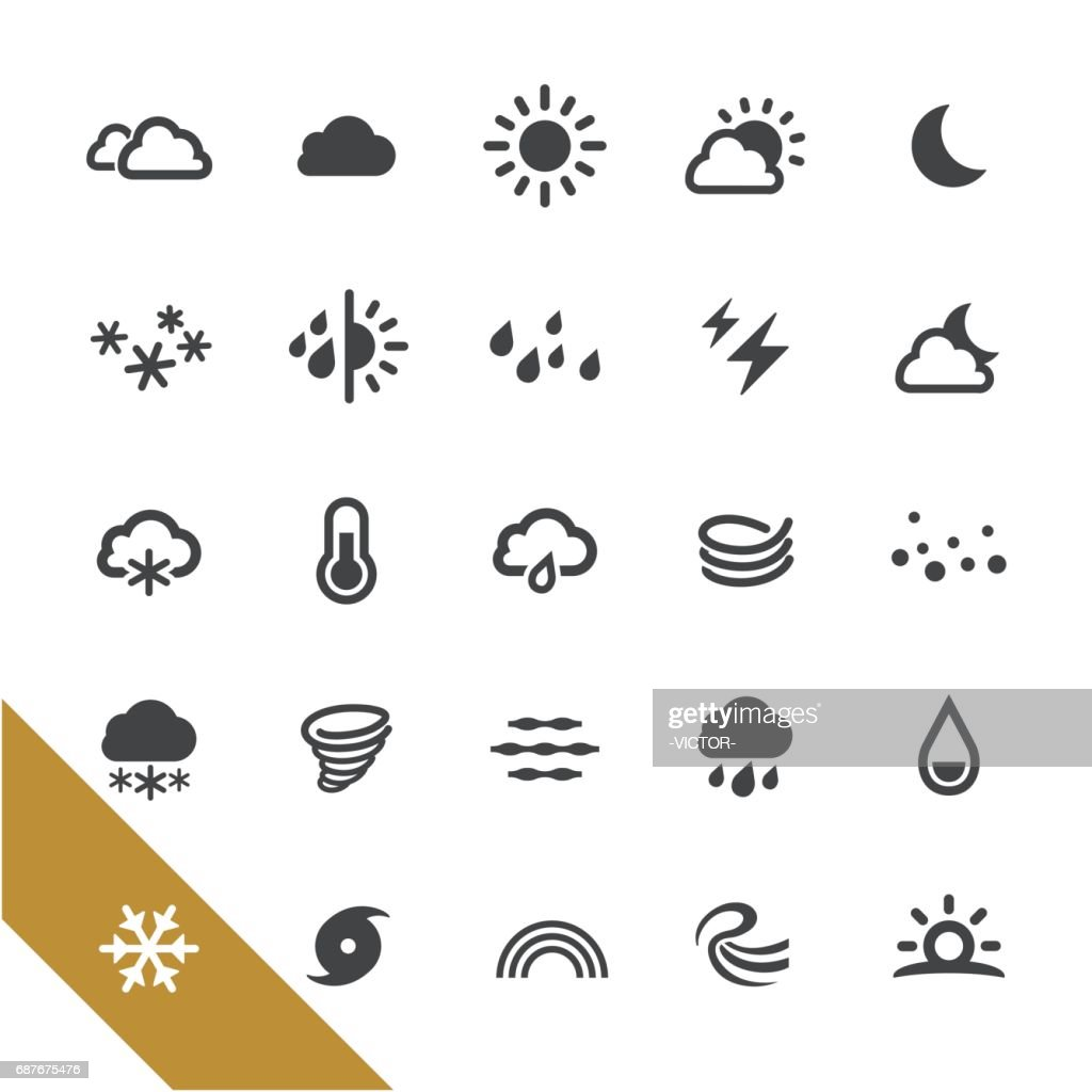 Weather Icons - Select Series : stock illustration