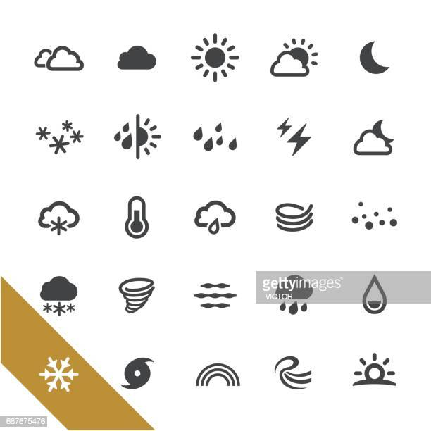 weather icons - select series - temperature stock illustrations