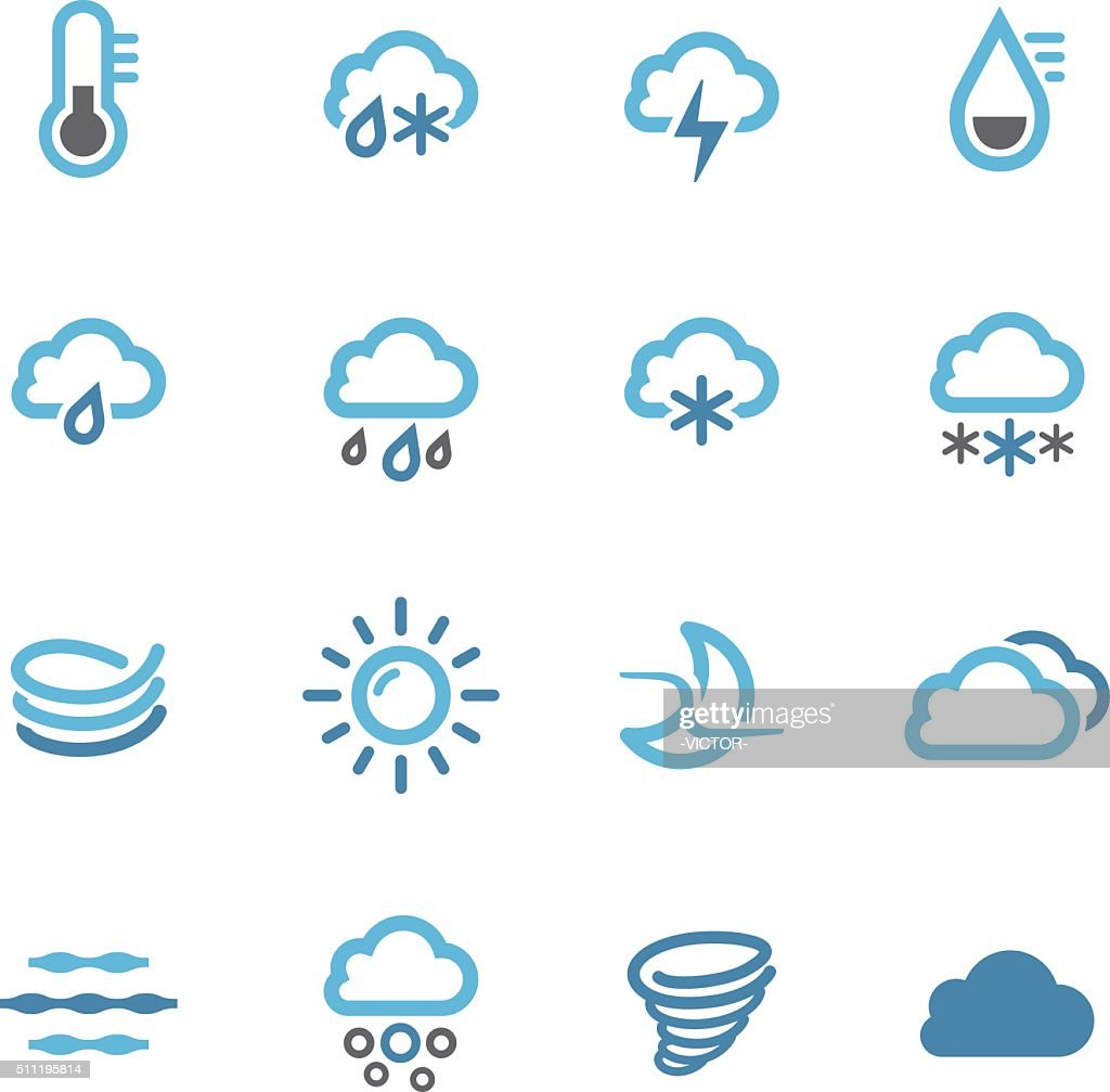 Weather Icons Set - Conc Series