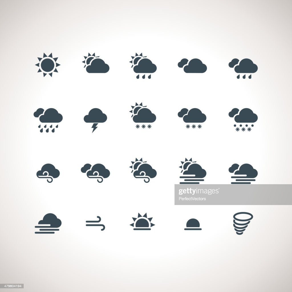 Weather Icons Set for web and mobile applications