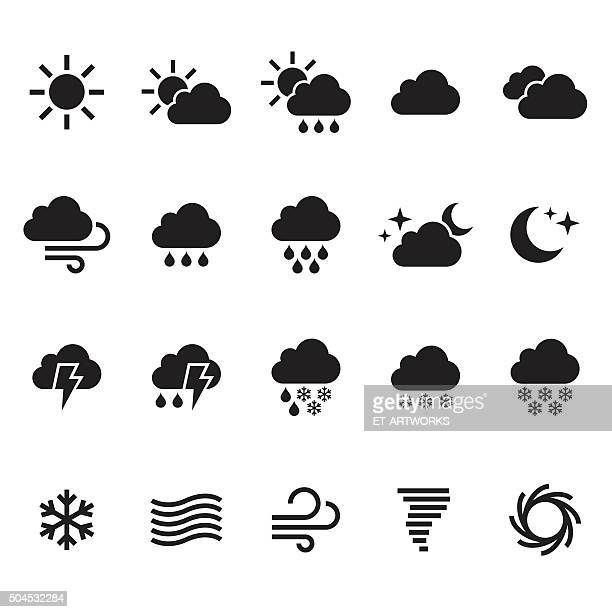weather icons set. vector - weather stock illustrations