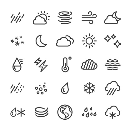 Weather Icons - Smart Line Series - gettyimageskorea