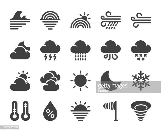 weather - icons - blizzard stock illustrations