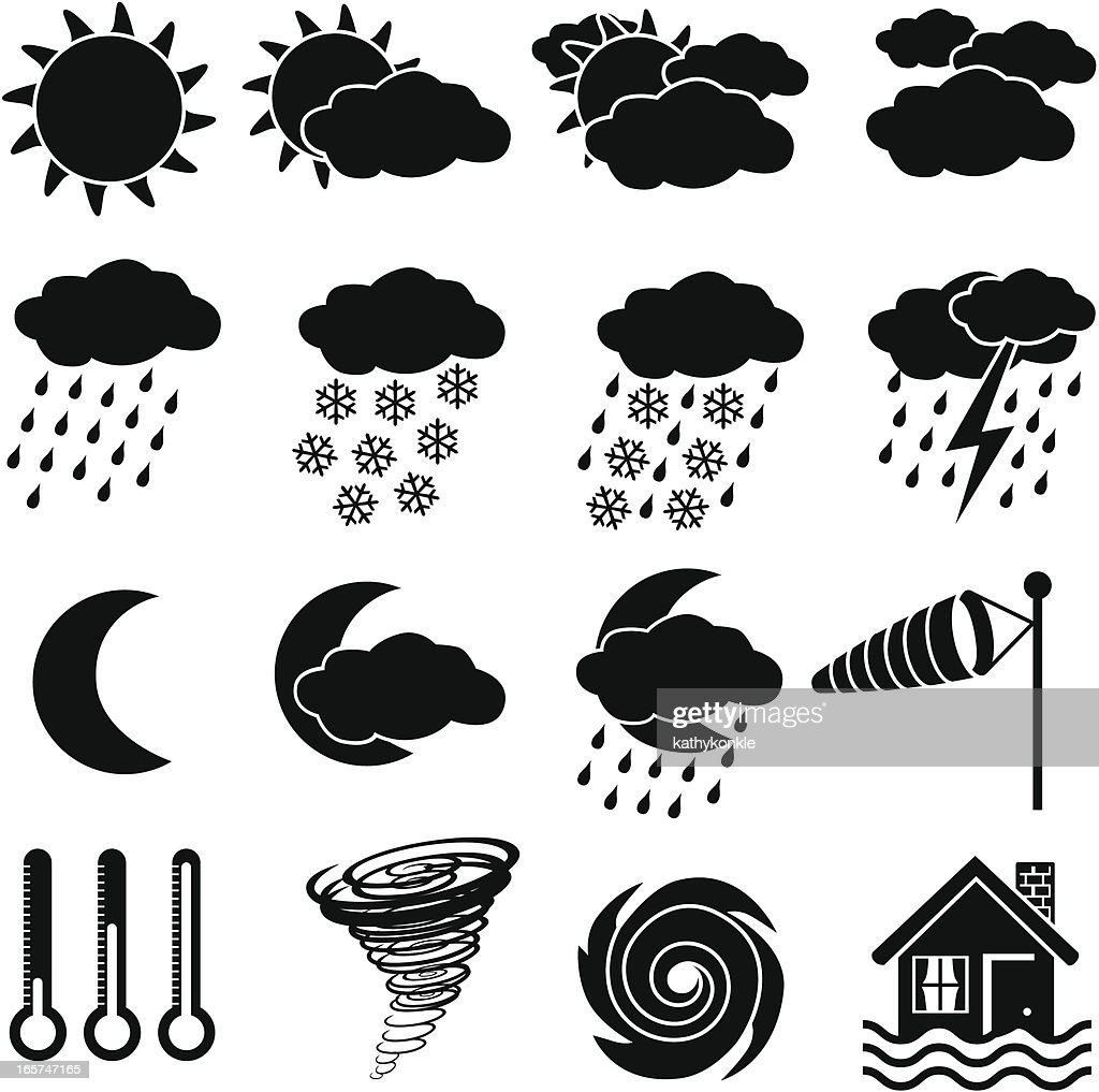 weather icons : stock illustration