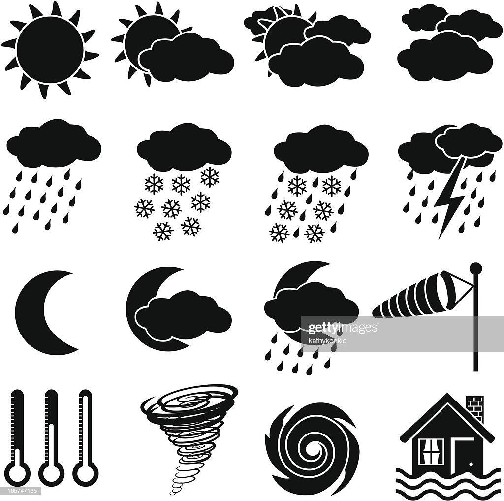Iconos weather : Ilustración de stock