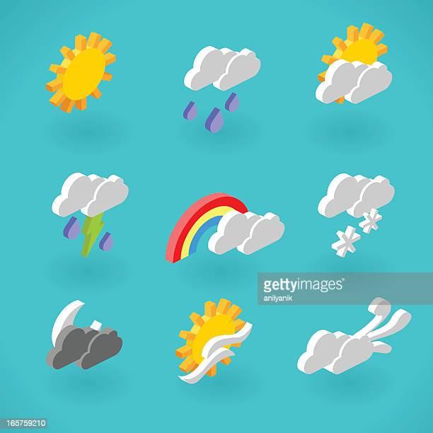 天気アイコン - 投影図点のイラスト素材/クリップアート素材/マンガ素材/アイコン素材