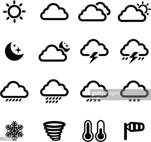 Ícones meteorológicos giros