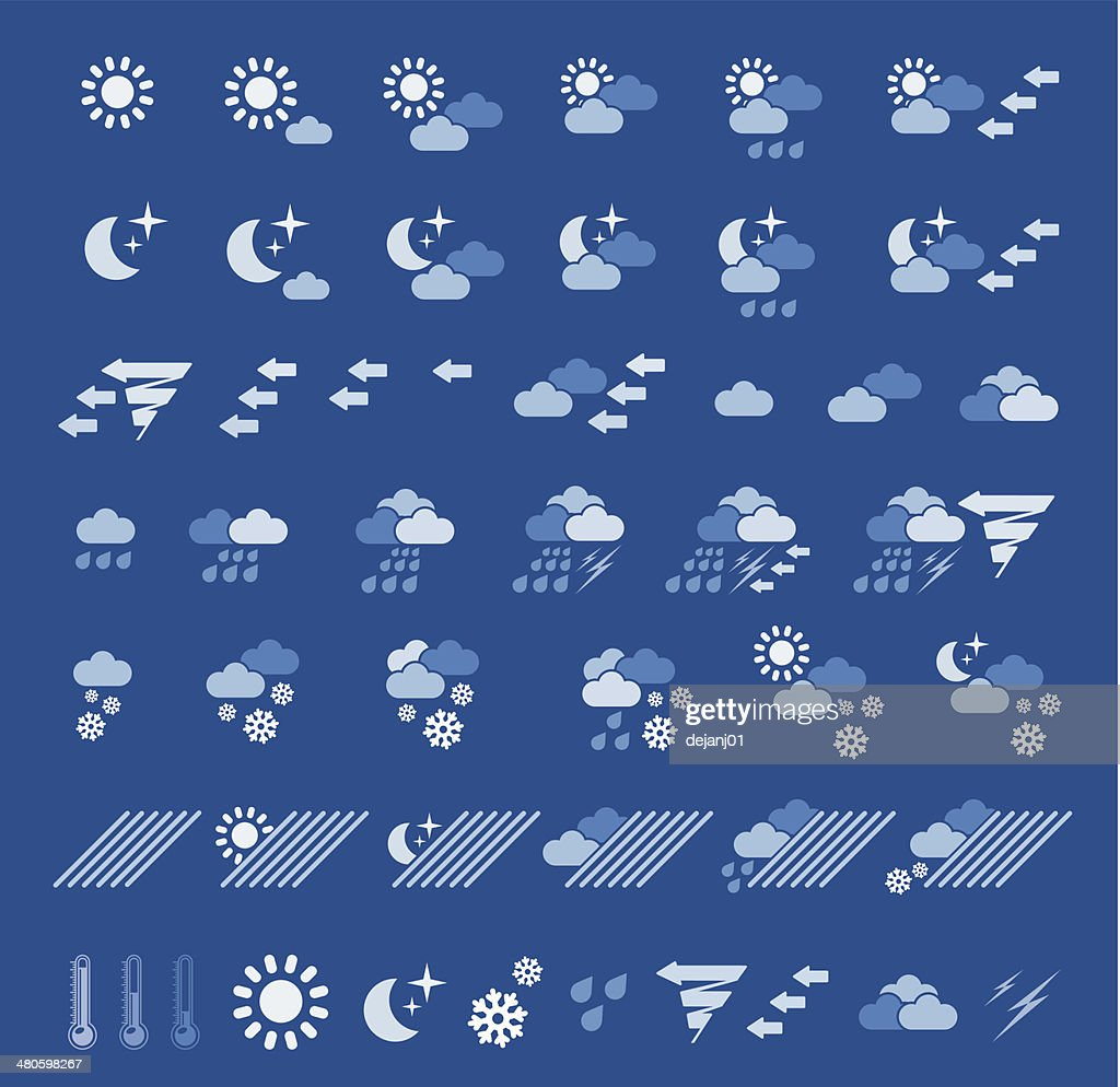 Weather icons : Vector Art