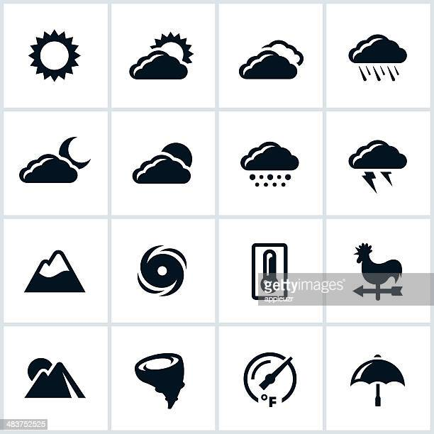 weather icons - hurricane stock illustrations, clip art, cartoons, & icons