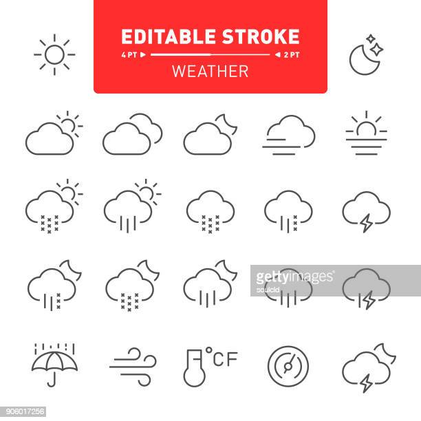 weather icons - weather stock illustrations