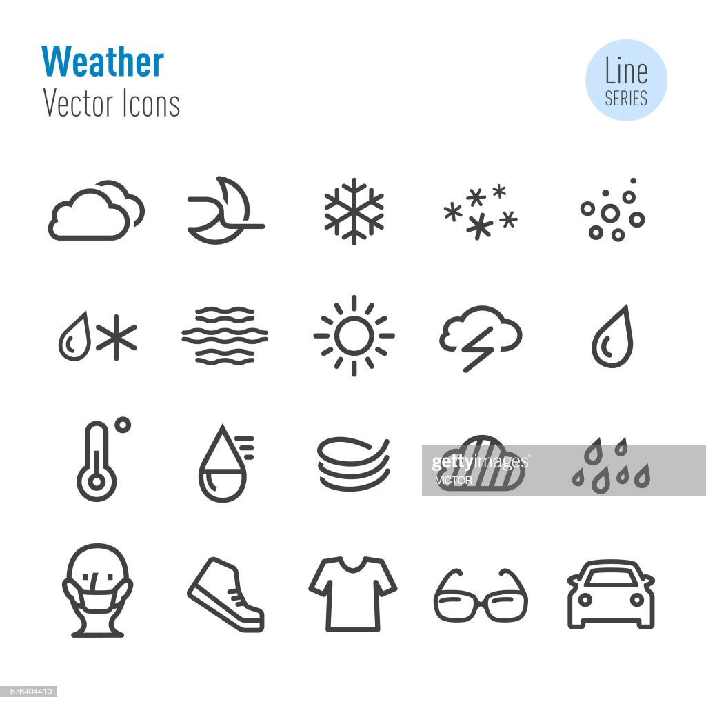 Weather Icons - Vector Line Series