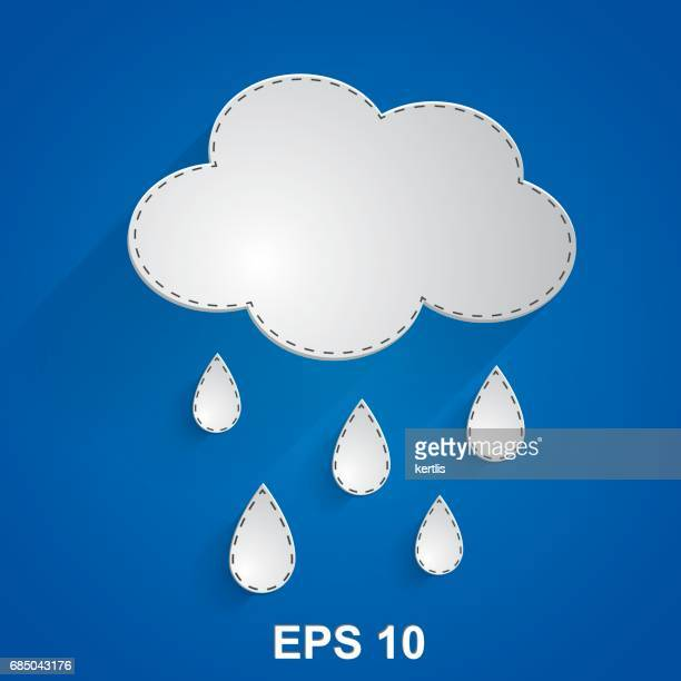 weather illustrations series - overcast stock illustrations, clip art, cartoons, & icons