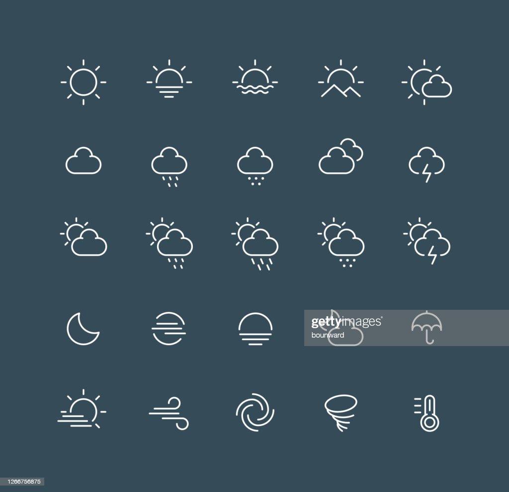 Weather Line Icons Editable Stroke : Stock Illustration