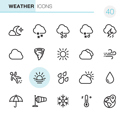 Weather - Pixel Perfect icons - gettyimageskorea