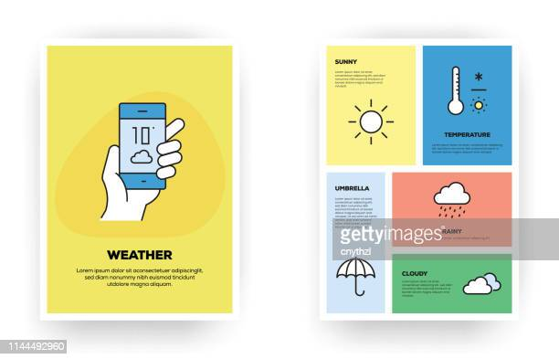 weather related infographic - fahrenheit stock illustrations