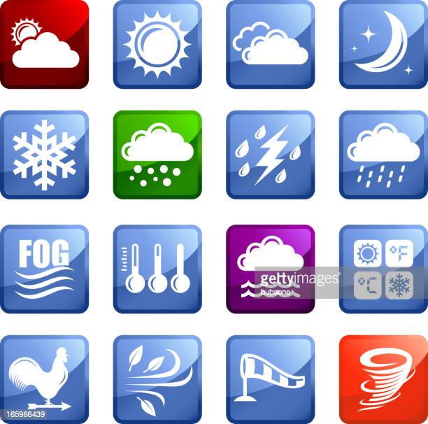 weather royalty free vector arts super vector icon set stickers - monsoon stock illustrations, clip art, cartoons, & icons