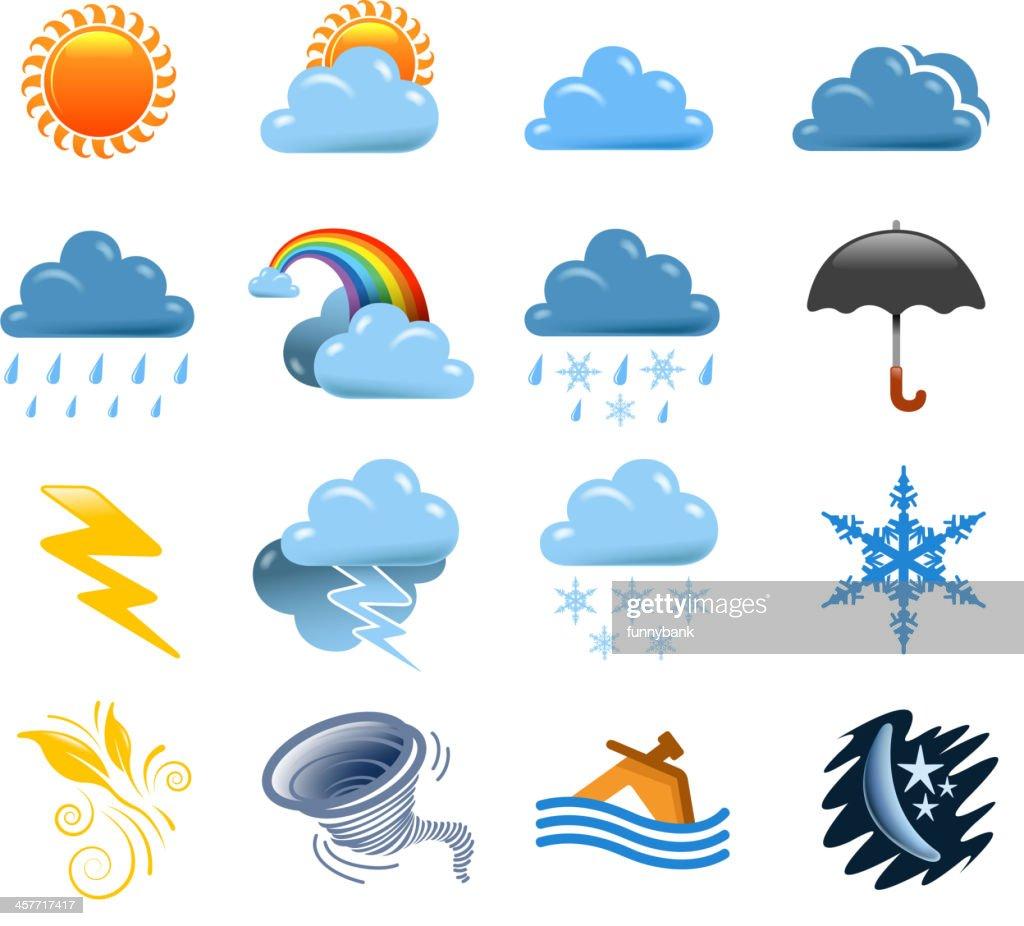weather set : stock illustration