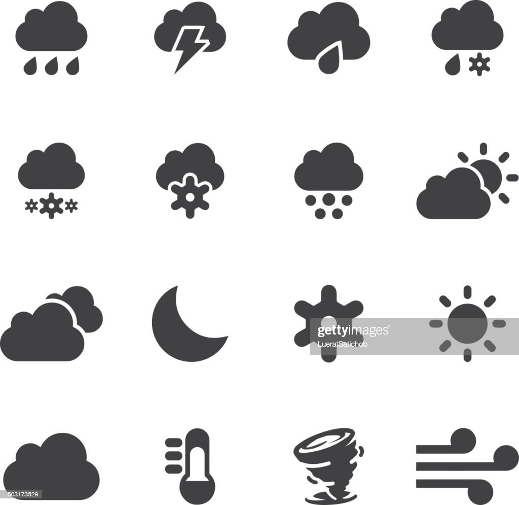 Weather Silhouette icons 2 | EPS10