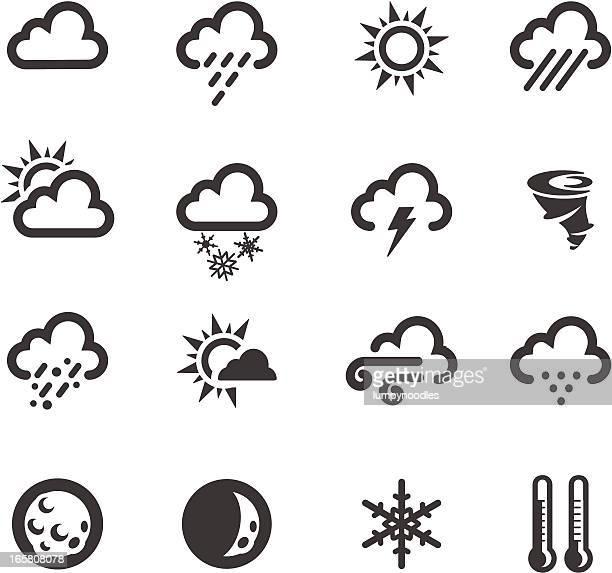 weather symbols - storm stock illustrations