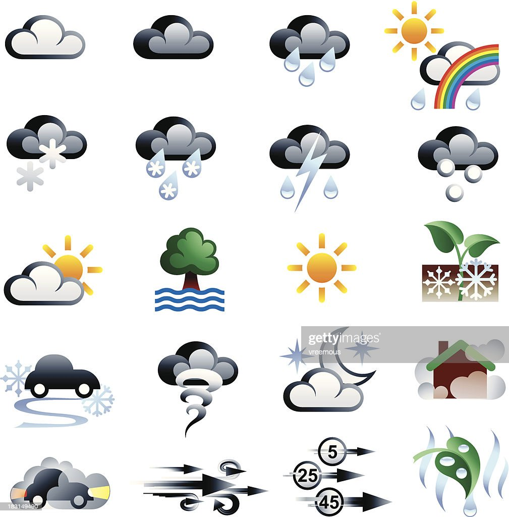 Weather Symbols Vector Art Getty Images