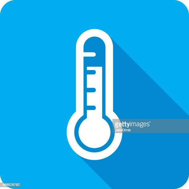 Weather Thermometer Icon Silhouette