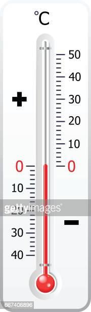 ilustraciones, imágenes clip art, dibujos animados e iconos de stock de termómetro meteorológico aislado en vector blanco - termometro mercurio