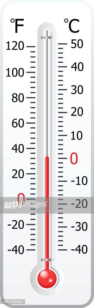 天候温度計に隔てられたホワイトのベクトル : ストックイラストレーション