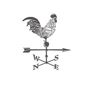 Weather vane. Rooster.