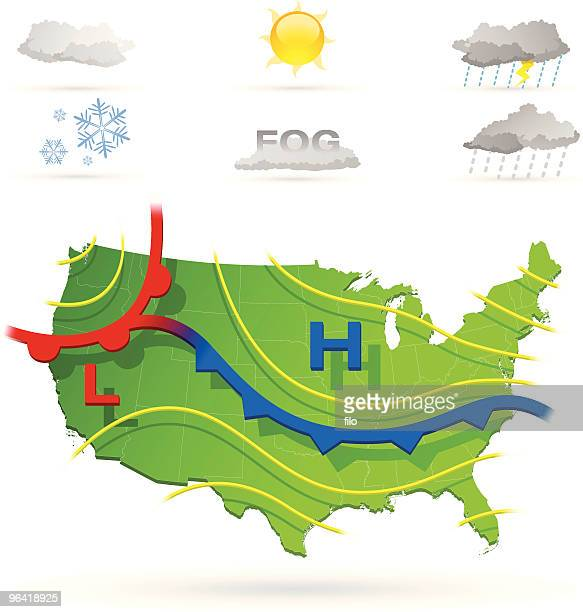 weather - forecasting stock illustrations