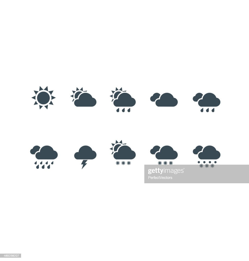 Weather web and mobile icons