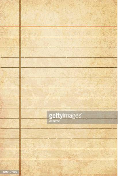 weathered lined paper that is yellow - the past stock illustrations