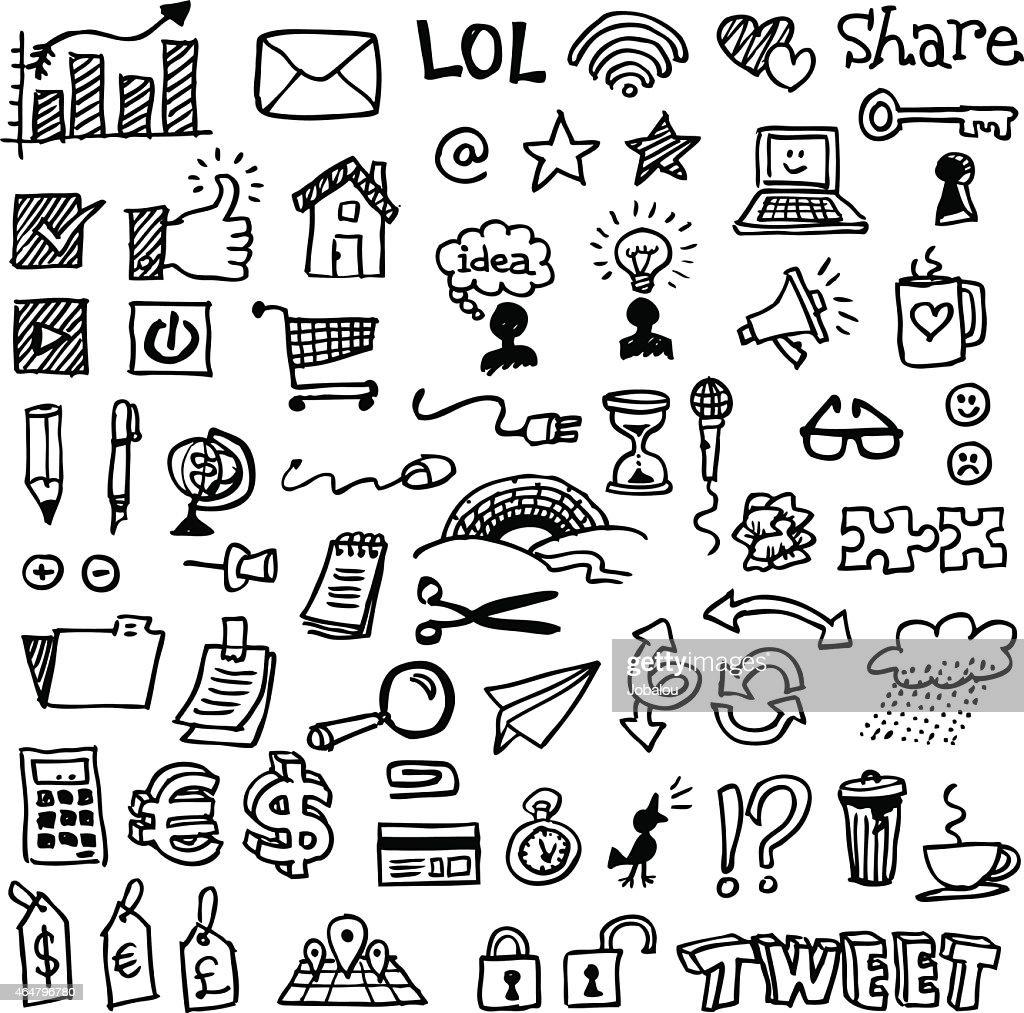 ウェブやビジネスのスケッチ : ストックイラストレーション