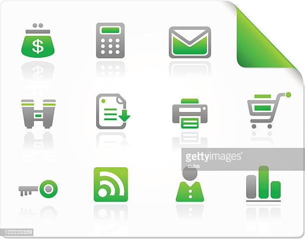 Web and commercial green icons