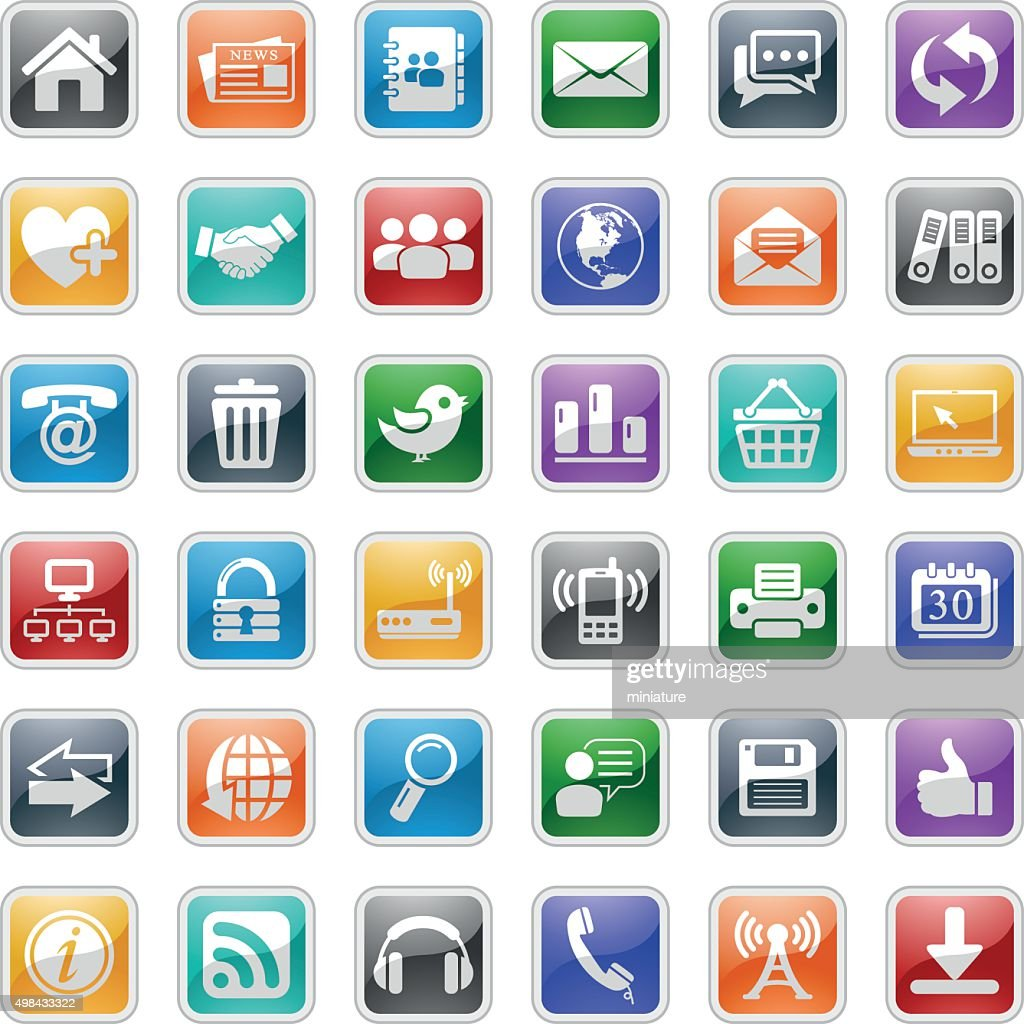 web and communication icons