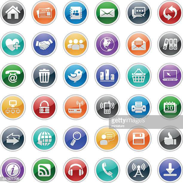 web and communication icons - answering machine stock illustrations, clip art, cartoons, & icons
