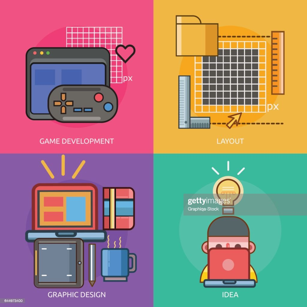 Web And Development Conceptual Design Stock Illustration Getty Images