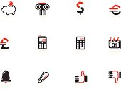 Web and Financial Icons | Nero Series