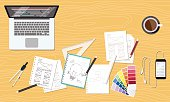 web and graphic creative design layout workspace