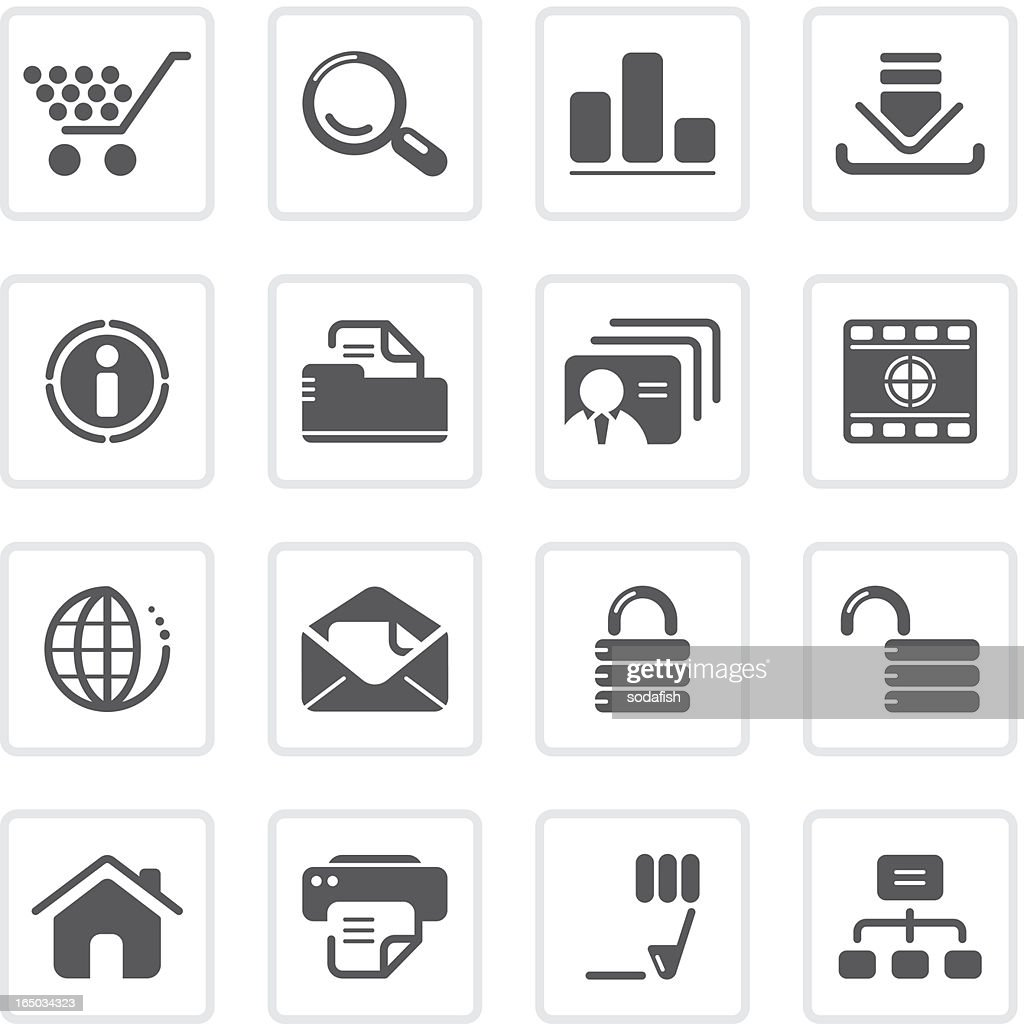 Web and Internet icons   prime series : stock illustration