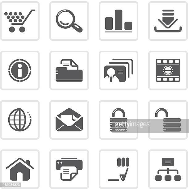 web and internet icons | prime series - filing cabinet stock illustrations, clip art, cartoons, & icons