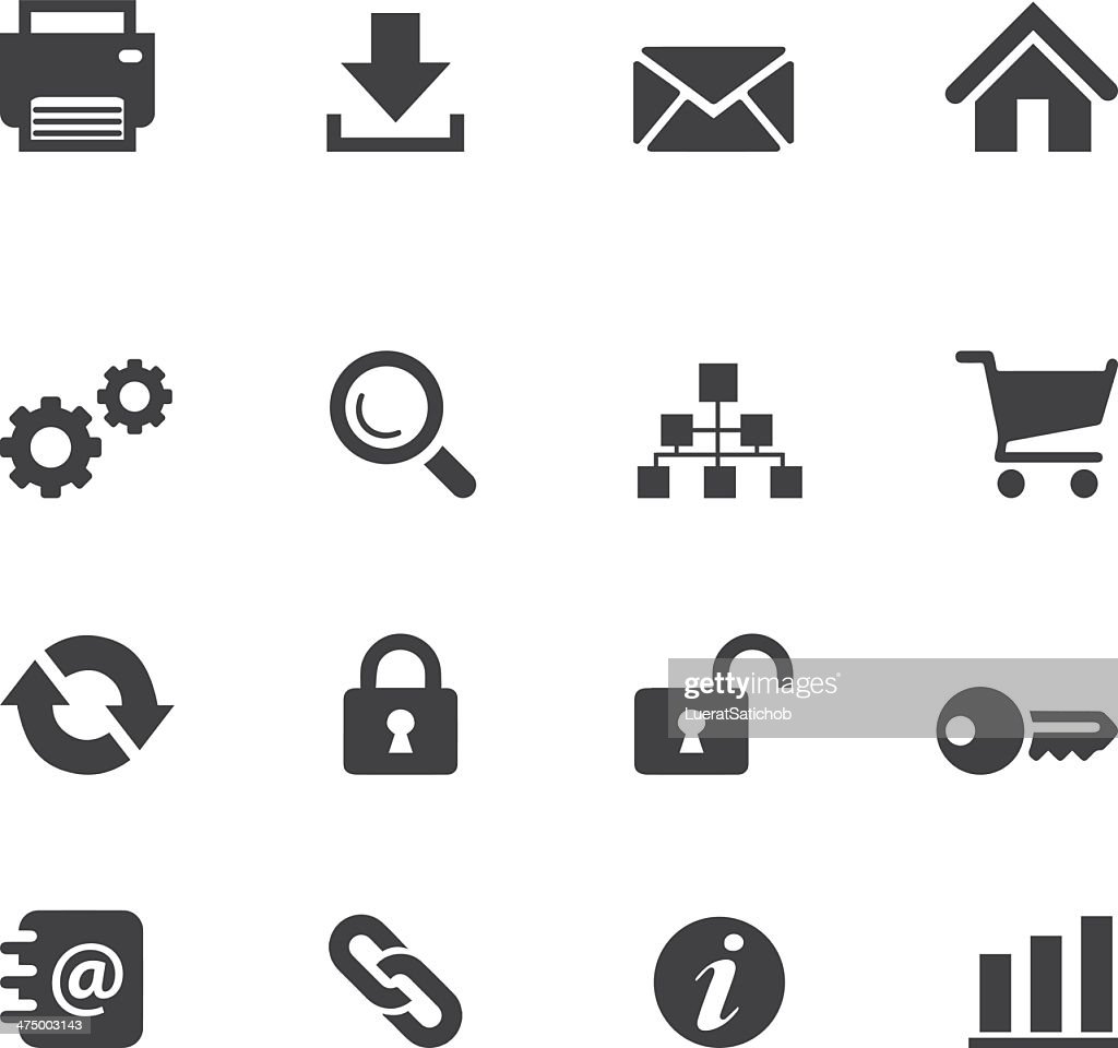 Web and Internet Silhouette icons