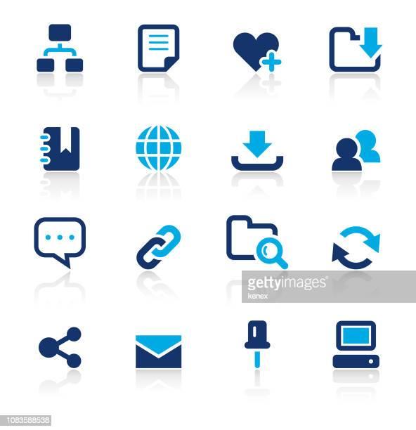 web とインターネットの 2 つの色のアイコンを設定します。 - send点のイラスト素材/クリップアート素材/マンガ素材/アイコン素材