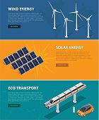 Web backgrounds eco power sources such as wind turbines