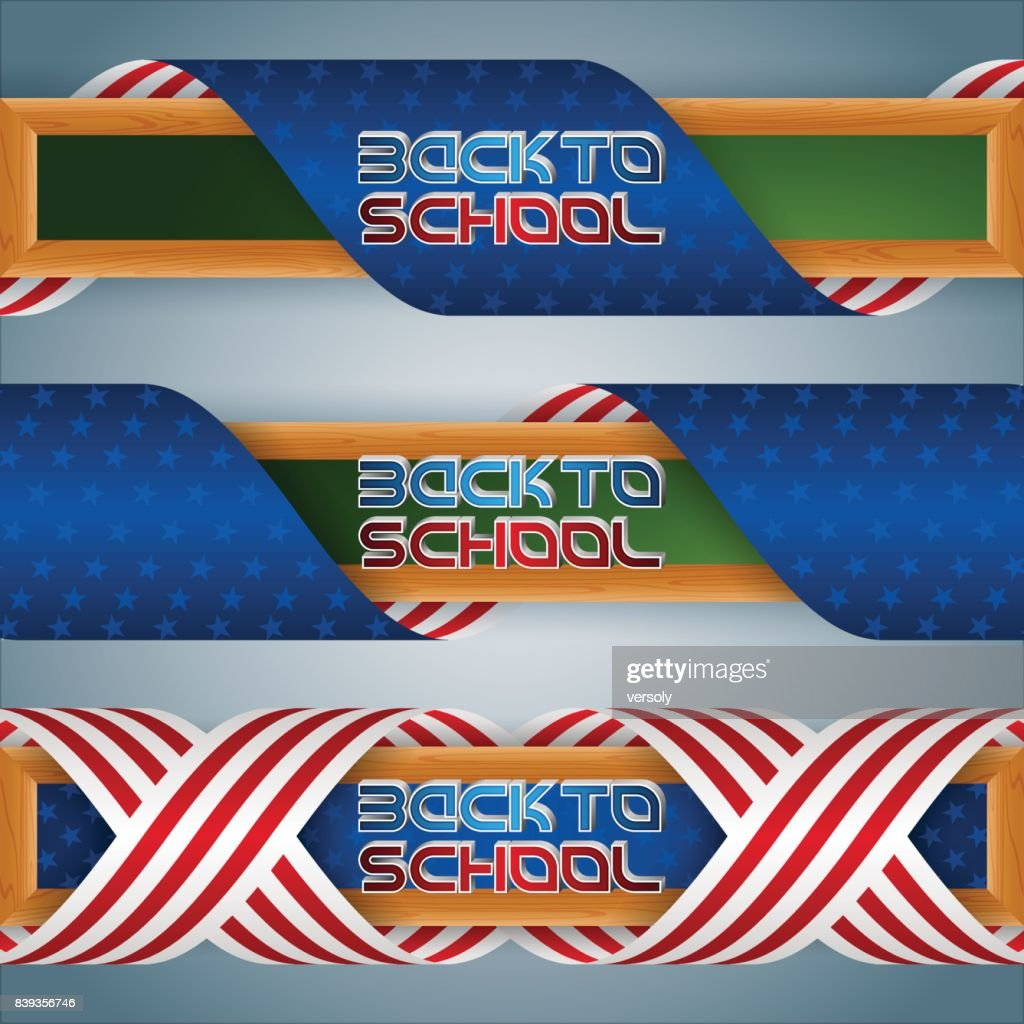 Web banners for Back to school, American event