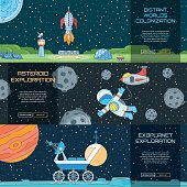 Web banners set on the theme of space 2