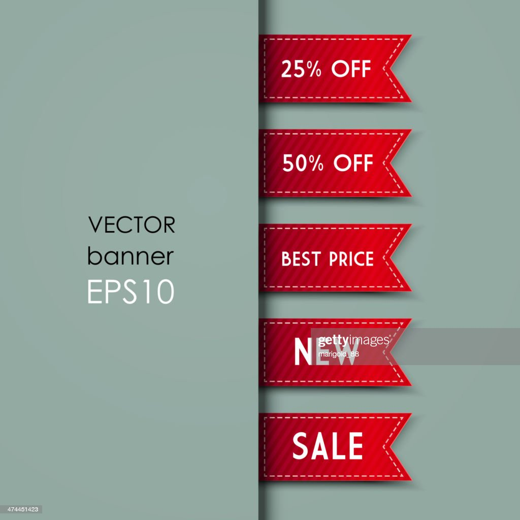 Web Bookmarks. Vector illustration