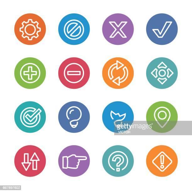 ilustrações, clipart, desenhos animados e ícones de web ícones - círculo linha série - subtração