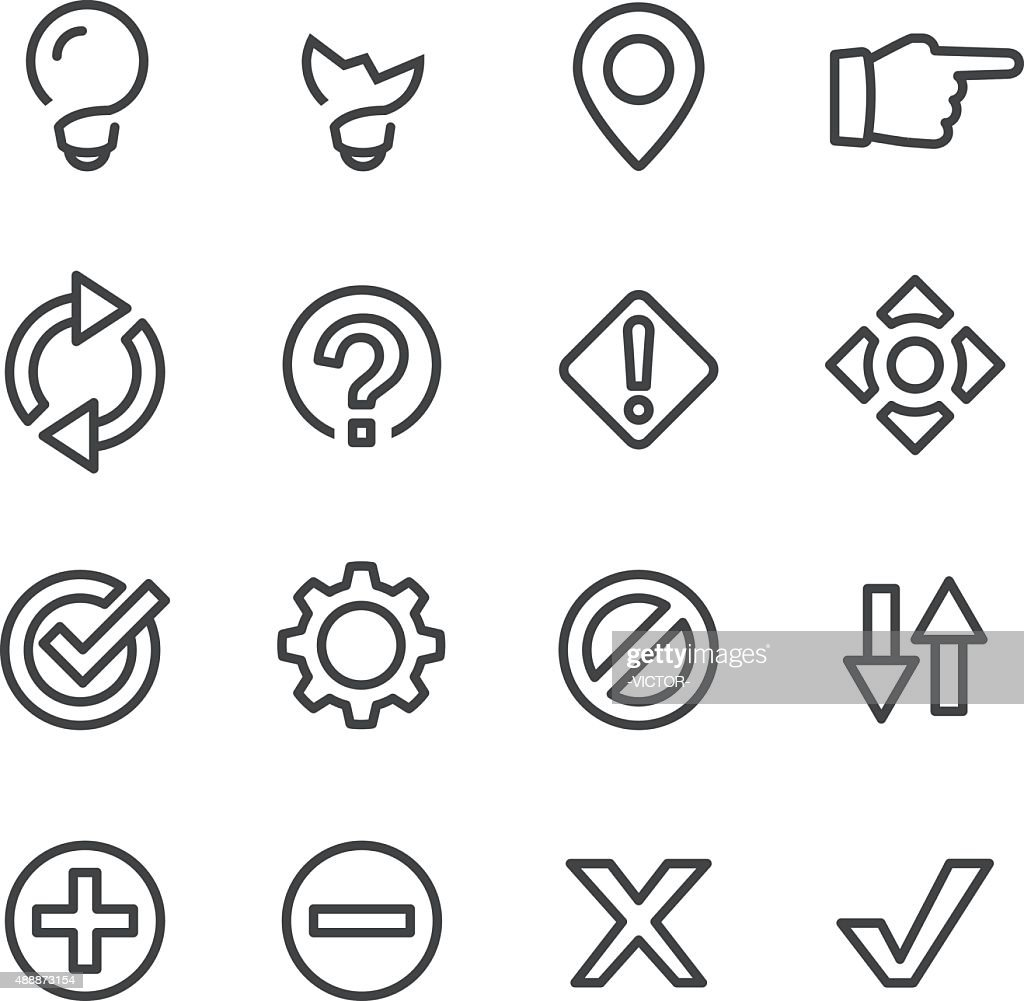 Web Button Icons - Line Series