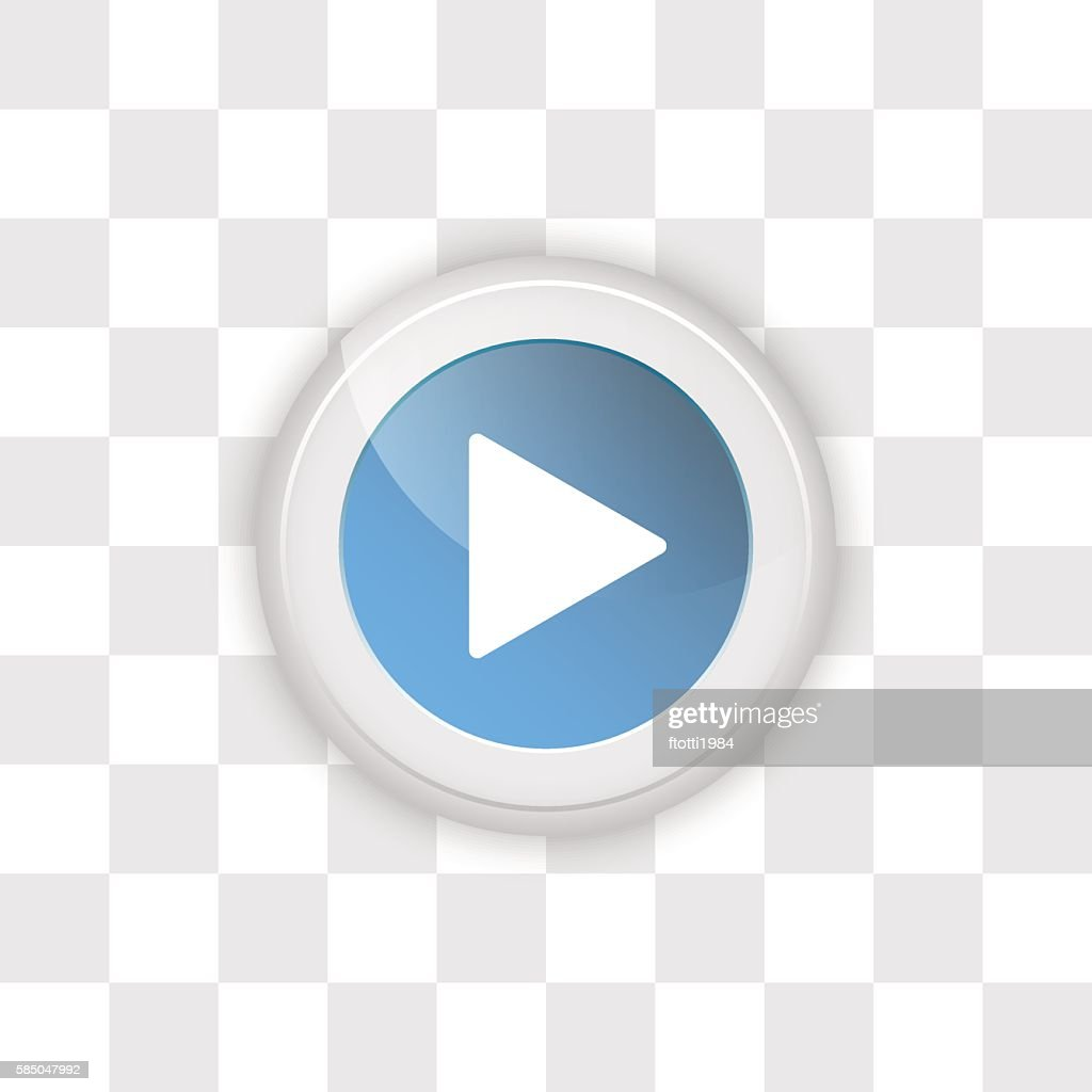 Web button play on a transparent background.